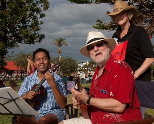 Harry, Peter and Jenny, Redcliffe, 2013