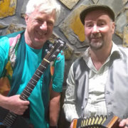 Peter McMeel and Brendan Williams are bringing a bit of the Irish to Toowong Bowls Club