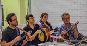 Uke Plays Irish meet weekly Thursdays at Toowong Bowls Club.