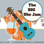 Join the BUMS at Coorparoo Bowls Club every first Wednesday of the month for their biggest uke jam!