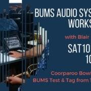 Come along to gain a basic knowledge of audio systems, specifically the audio system in use at Cooparoo Jam.
