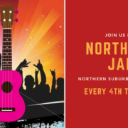 Brisbane Ukulele Musicians Society BUMS jam on the northside every fourth Tuesday of the month